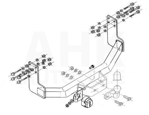 Für VW LT 28-35 Kasten 3,55//4,025 für Trittbrett 95-06 AHK starr+ES 7p univ