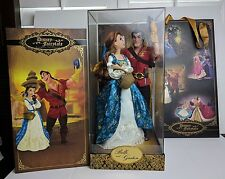 Disney 2016 Fairytale Designer Collection Dolls Belle and Gaston LE of 6000