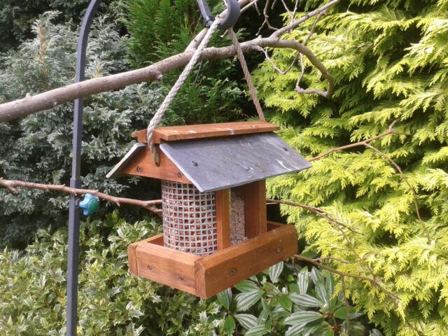Set of 6 Garden Bird Squirrel Seed /& Nut Dish Tree Hanging Feeder Station