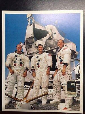 Honey Apollo 12 Crew Nasa Photo W/ 6c Apollo 8 Stamp Cancelled Nov 14 Historical Memorabilia 1969 Original To Invigorate Health Effectively Astronauts