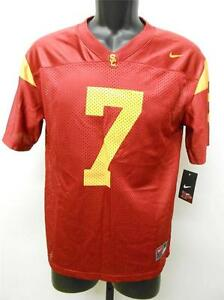 772a0409ea0 NEW USC TROJANS #7 YOUTH Sizes M-L (12/14-16/18) NIKE Red Jersey | eBay