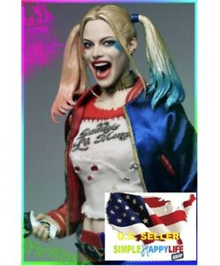 1-6-Harley-Quinn-Head-Suicide-Squad-Kleidung-Set-Hammer-Phicen-verycool-USA