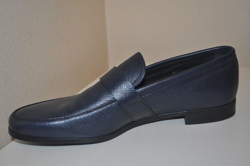 check out efe2b 1b443 ... 690+ PRADA Saffiano Saffiano Saffiano Bit Loafer Slip On Shoes Baltico  Blue Leather 9.5 ...