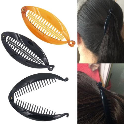 Resin Banana Fishtail Clip Hair Comb Clip Lady Fish Folder  Hairpin Headdress \\