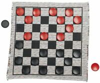 Kid's Checkers Game Rug Board Large Jumbo Family Washable Child's Xmas Gift