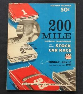 1961 321.9km National Stock-Car Championnat Milwaukee Mile Norm Nelson OJtRVaE0-07143028-415173085