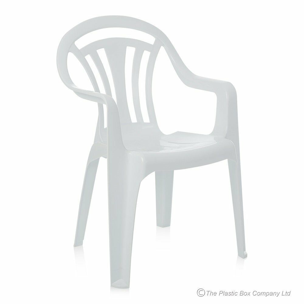Plastic Low Back Chair Patio Garden Outdoor Chairs