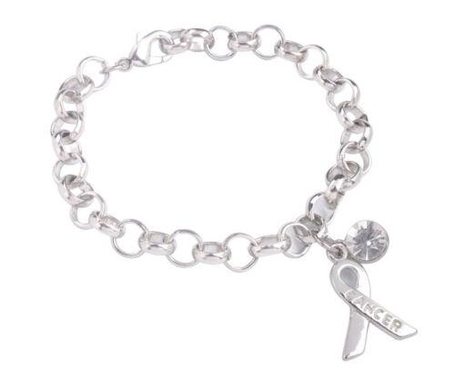 1PCS Fashion Silver Tone Metal Rhinestone Charm Chain Bracelet