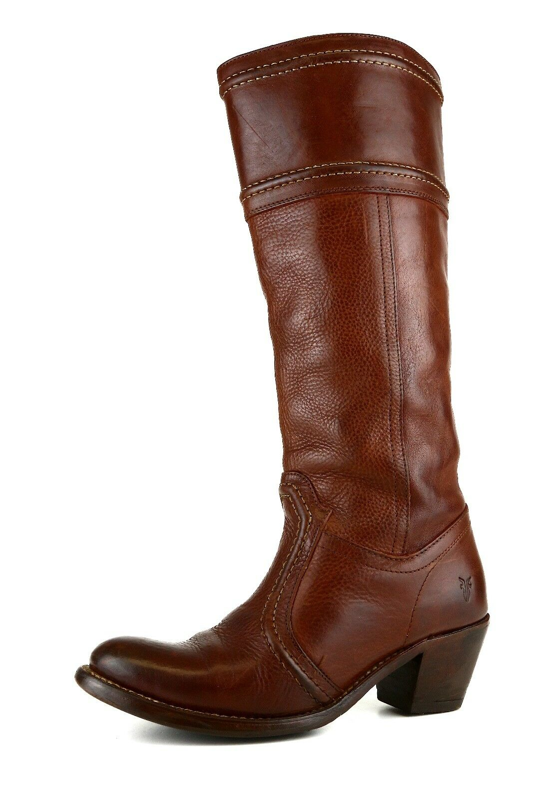 FRYE Jane 14 Pull On Leather Boot Brown Women Sz 6.5 B 5760 *