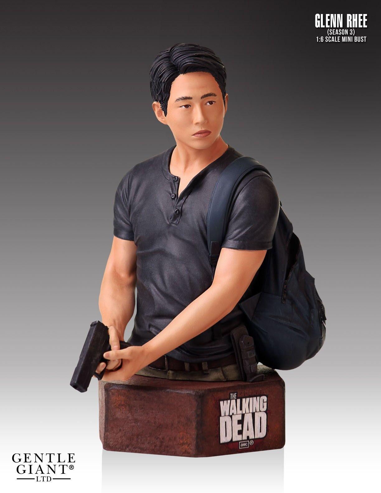 Gentle Giant The Walking Dead Glenn Rhee Bust Statue no Sideshow Threezero Weta