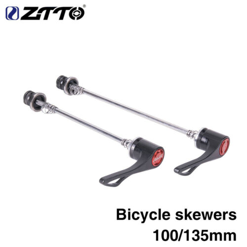 Details about  /ZTTO MTB Road Bike Screw 9MM 5MM QR Quick Release Skewers 100 135 Reliable Axle