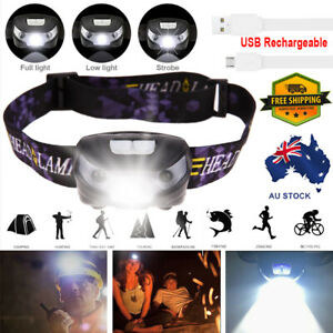 Waterproof-Head-Torch-LED-Headlamp-Flashlight-USB-Rechargeable-CREE-Camping-Fish