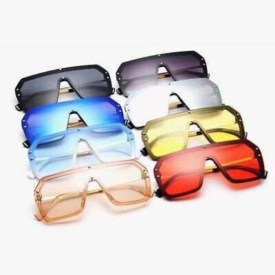 Women Sunglasses F Letter Mirror Coating Oversize Square Eyewear UV400 Lenses