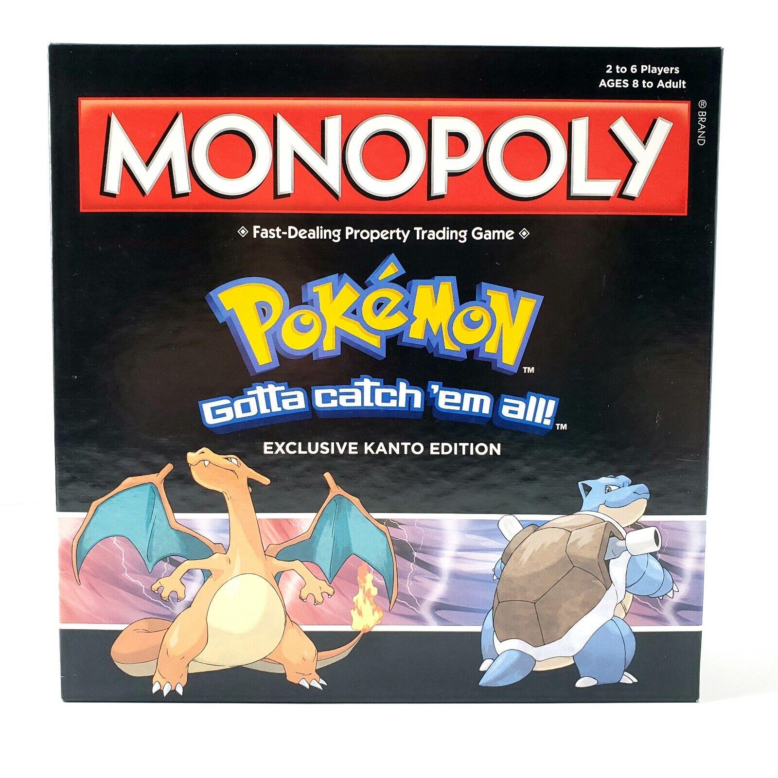 Monopoly Pokemon Exclusive  Kanto Edition Board Game Complete In Box Mint Pieces  pour votre style de jeu aux meilleurs prix
