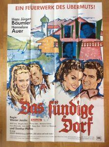 Suendige-Dorf-A0-Kinoplakat-039-66-Hans-Juergen-Baeumler-Hannelore-Auer