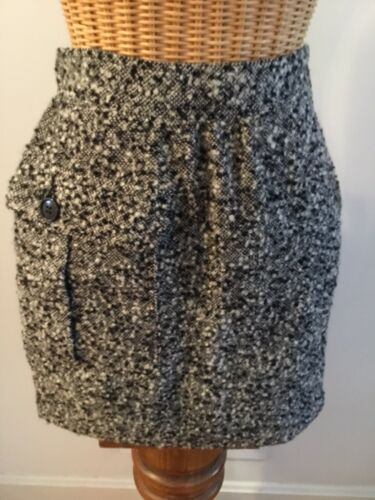 Vintage Valentino Miss V Black White Wool Tweed Mi