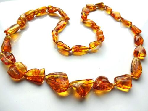Véritable Collier ambre Baltique 50.8cm