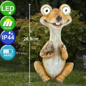 LED Außen Bereich Solar Stand Lampe Frosch Dekoration Figur Garten Steh Leuchte