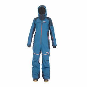 f3d7560cf395 Picture Womens Xena One Piece Ski Snow Suit WVT106 Petrol Blue