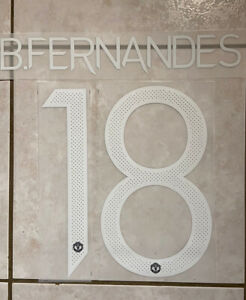 Flocage Nameset B.Fernandes #18 Manchester United 2020-2021 Home Away. Cup