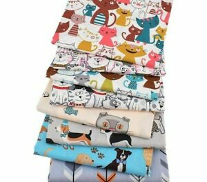 Cartoon Animal Print Twill Style Fabric Cotton Diy Sewing Quilting Materials New Ebay