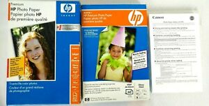 HP-Premium-Glossy-Photo-Paper-amp-Canon-GP-502-Inkjet-191-Sheets-Total-4-034-x-6-034