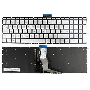 New For HP 15-cs0069nr 15-cs0072wm 15-cs0073cl Keyboard US Backlit Silver