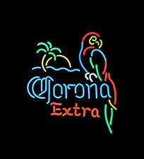Parrot Corona Extra Neon Sign Pub Bar Beer Night Club Artwork Vintage Bistro