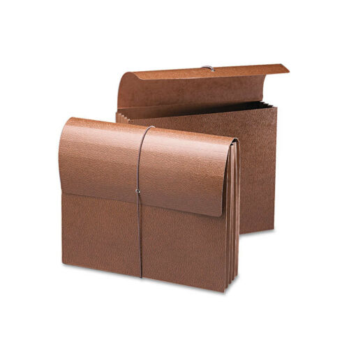 Letter 3 1//2 Inch Leather-Like Redrope 71353 Smead Expansion Wallets
