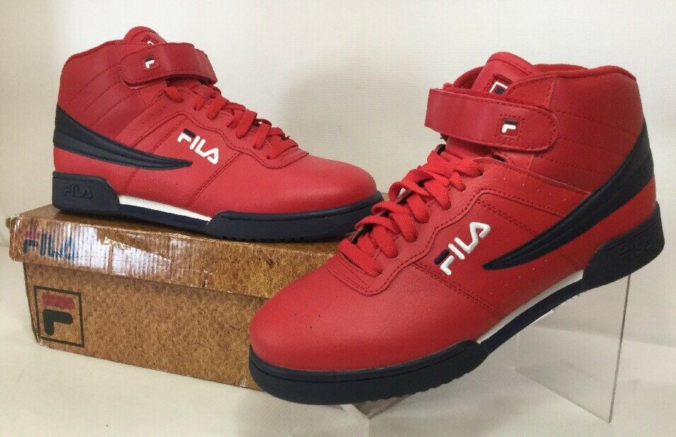 Fila Men's F-13V Leather Red Navy White Basketball Athletic shoes Sz 11M