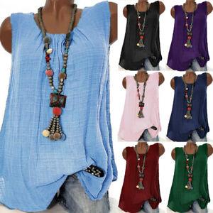 Womens-Blouse-Pullover-Ladies-Summer-Sweatshirt-Loose-Cami-Tee-Shirt-Vest-Tops
