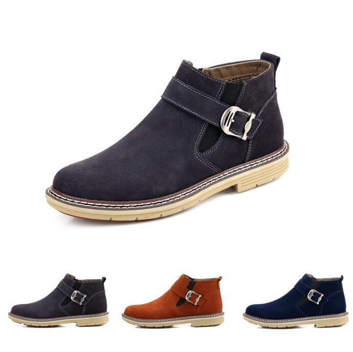 Herrenschuhe Ankle Stiefel Schnee 44 45 46 Faux-Wildleder Fashion Gefüttert Alltag