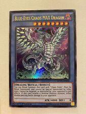 1st Edition  LP Yugioh Secret Rare Blue-Eyes Chaos MAX Dragon MVP1-ENS04