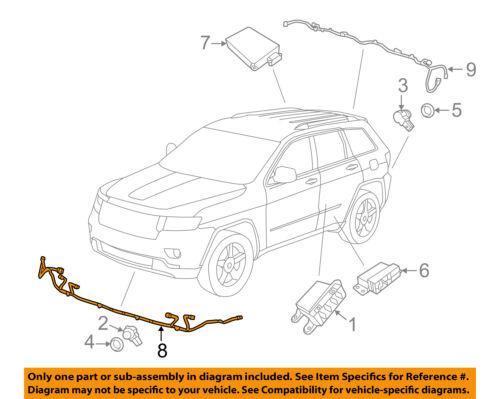 Jeep CHRYSLER OEM-Engine Control Module ECM PCU PCM Wiring Harness 68143109AB
