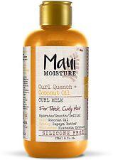 Maui Moisture Curl Quench + Coconut Oil Curl Milk 8 oz (Pack of 2)