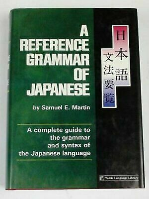 Reference Grammar of Japanese