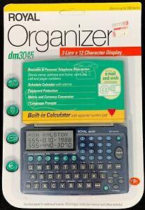 Vintage-Royal-Organizer-dm3045-Business-amp-Personal-w-Calculator-2kb-Memory-NEW
