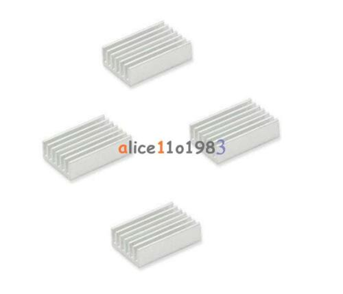 20PCS Aluminium 20x14x6mm Heat Sink Radiator Fin Heatsink Silver Tone