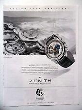 PUBLICITE-ADVERTISING :  ZENITH El primero Chronomaster 1969 Barrier 2014 Montre