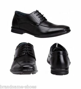 Image is loading MENS-HUSH-PUPPIES-CAREY-BLACK-LEATHER-EXTRA-WIDE-