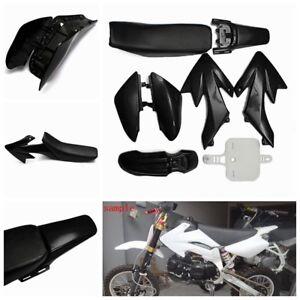 Black-50cc-110cc-125cc-140cc-Plastic-4-Stroke-CRF50-Pit-Bike-Kit-Mudguard-Seat