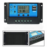 10A 20A 30A PWM Solar Panel Charge Regulator 12V/24V Auto LCD Solar Controller