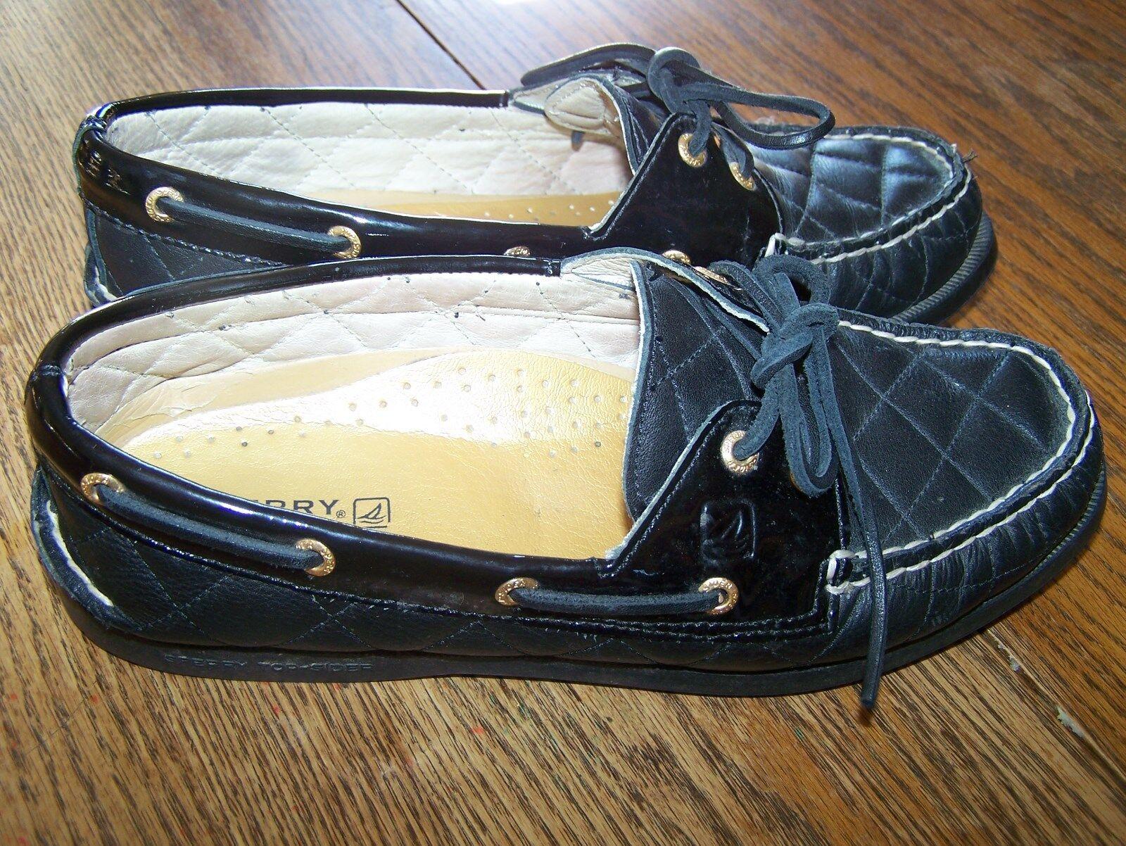 la sandales surface des sandales la en cuir matelassé sperry noir taille 9 les chaussures de bateau ee511a