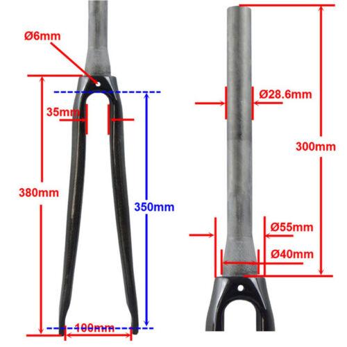 """Rennrad Fahrrad Schwarz Starre Gabeln Threadless 1 1//8 /""""28,6mm C Bremse"""