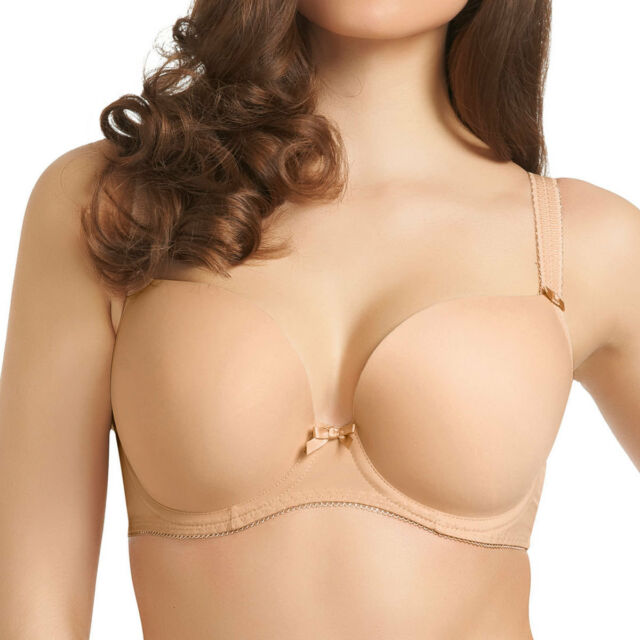 85fb3c48e8f Womens Freya Lingerie Deco Moulded Underwire Plunge Bra 4234 Nude Various  Sizes
