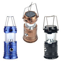 Portable Camping Solar Power Led Lamp Rechargeable Night Light With Flashlight