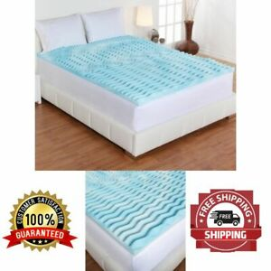 Orthopedic Topper Foam Mattress 2 Inch Gel Pad Cover Support Bedding King Size
