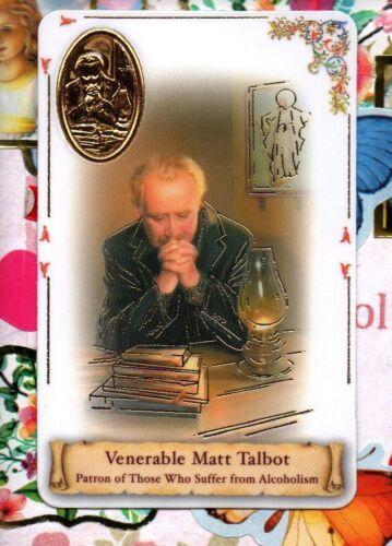 Venarable Matt Talbot mit Plastik Lager Heilig Karte