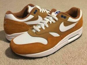 Nike-Air-Max-1-Premium-Retro-Shoes-908366-700-Dark-Curry-NEW-RARE-Men-039-s