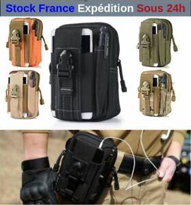 Sacoche-de-Ceinture-Style-Militaire-Randonnee-Scout-Trekking-Camping-Smartphone